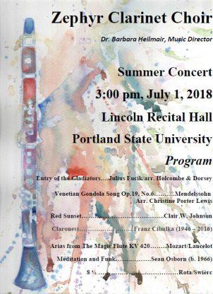 Zephyr-Clarinet-Choir_Program-2018